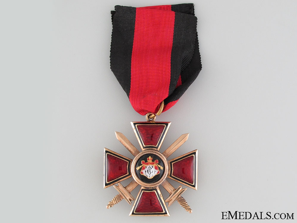 eMedals-The Order of St. Vladimir with Swords in Gold