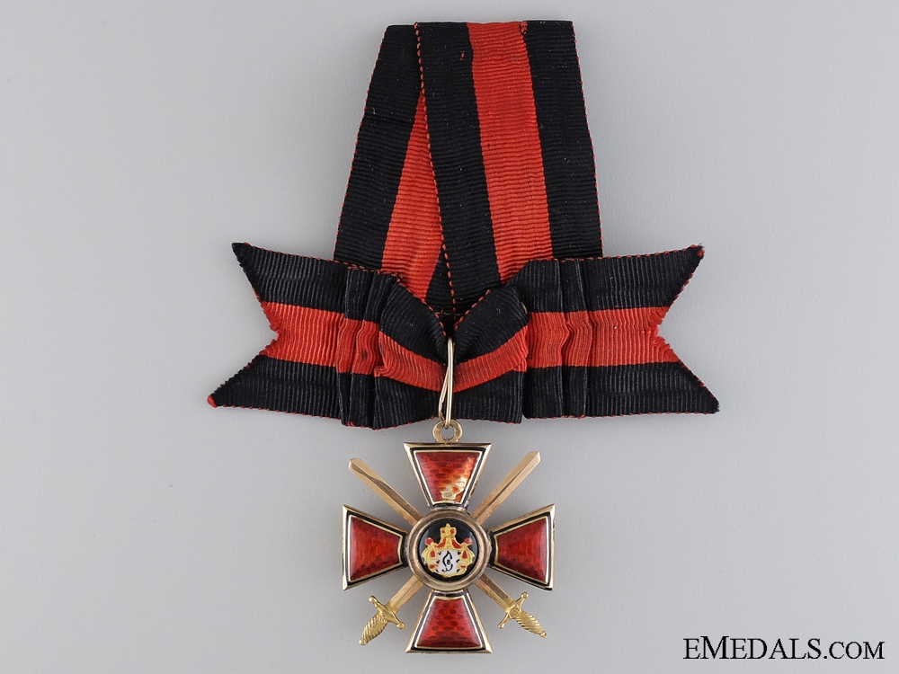 eMedals-The Order of St. Vladimir with Swords in Gold; 4th Class