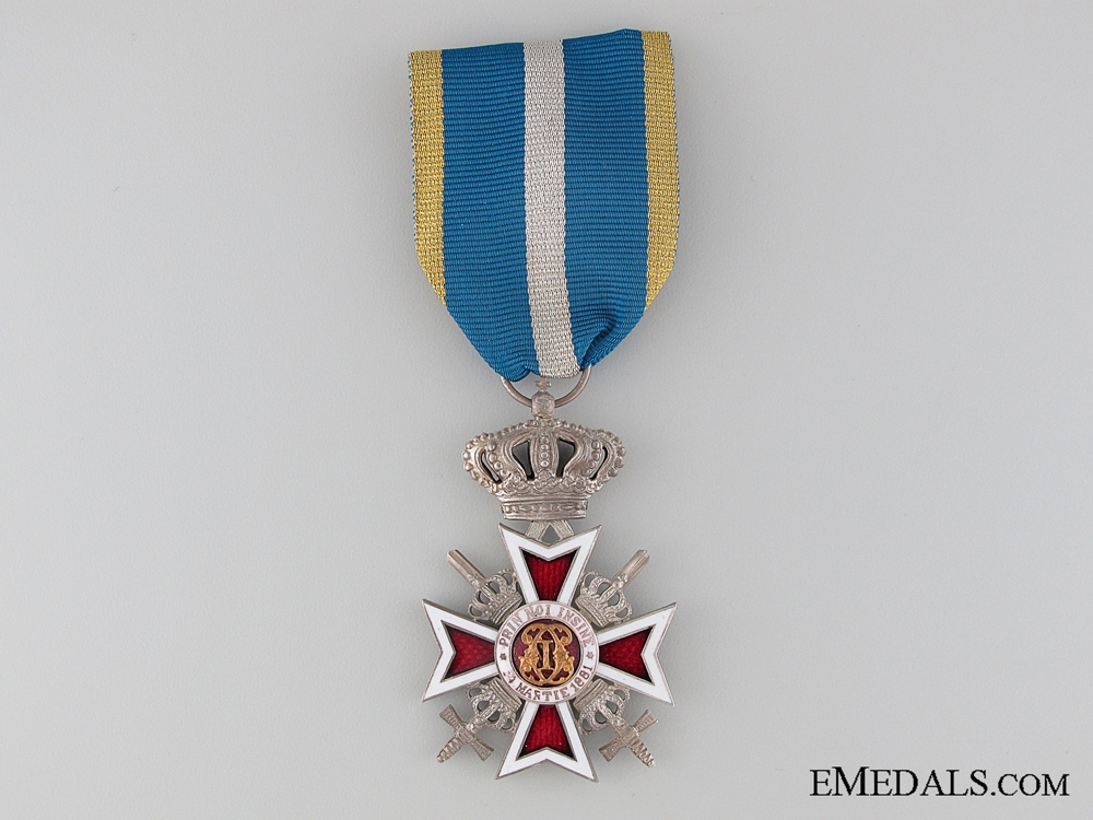 eMedals-The Order of the Crown of Romania with Swords; Silver Grade