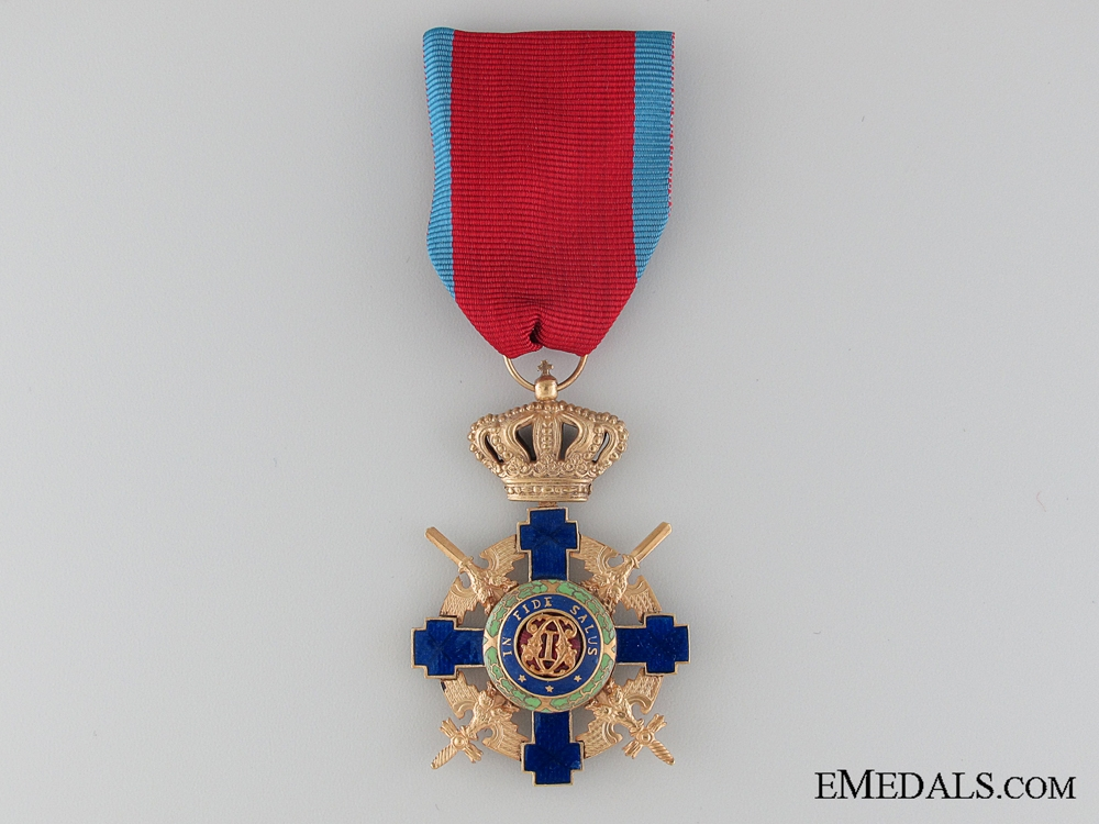 eMedals-The Order of the Star of Romania; Officer with Crossed Swords