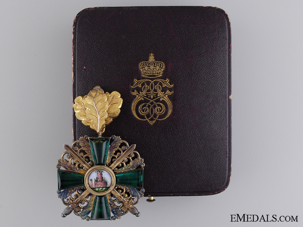 eMedals-The Order of the Zähringen Lion with Gold Oakleaves