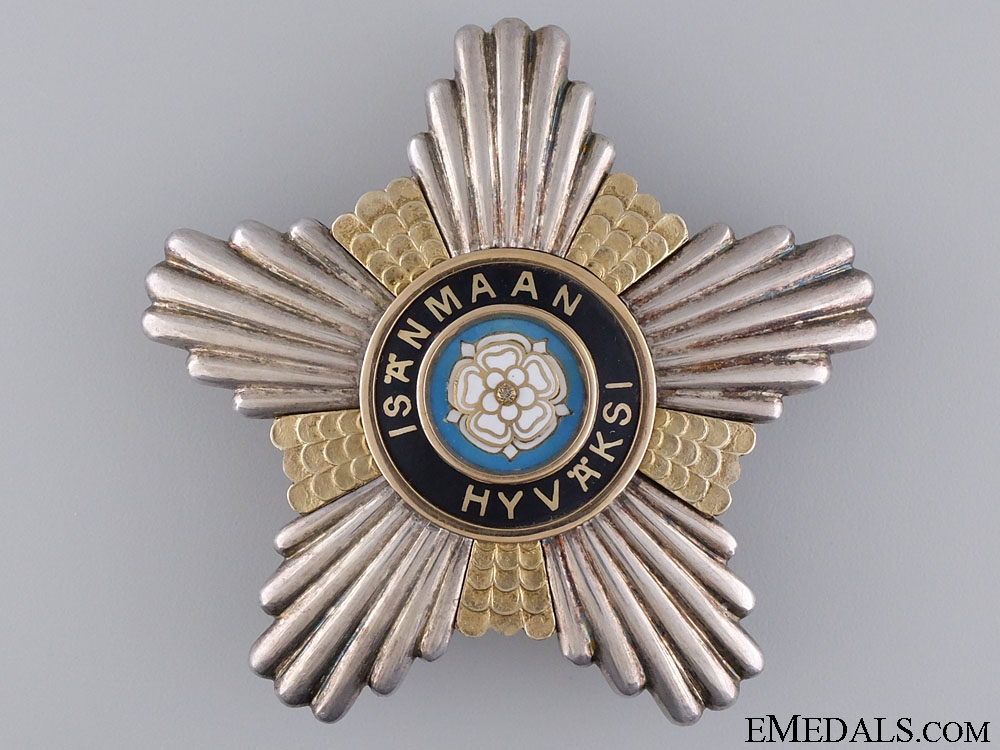 eMedals-The Order of the White Rose of Finland; Breast Star 1919-1944