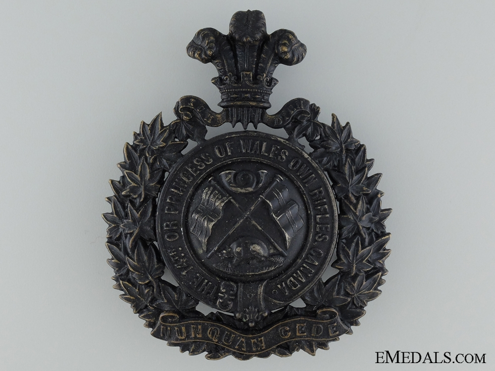 eMedals-The Princess of Wales' Own Rifles Helmet Plate; 14th Regiment