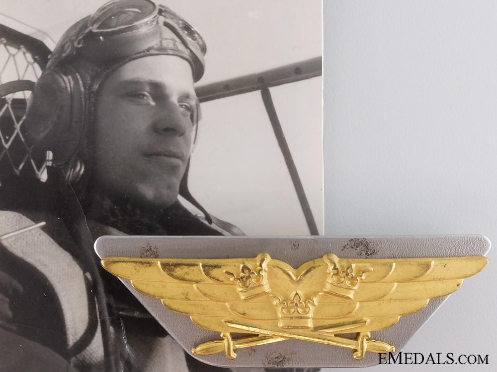 eMedals-The Second War Swedish Pilot Wing of Lars Sandblom