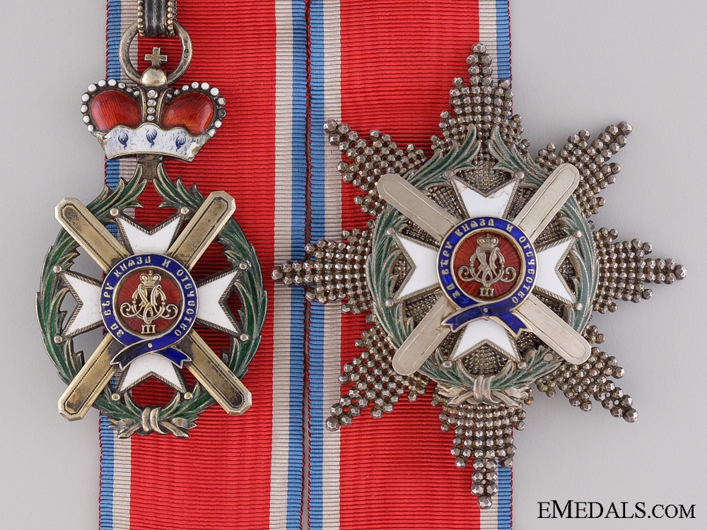 eMedals-A Serbian Order of Takovo; Grand Officer Set by Anton Furst