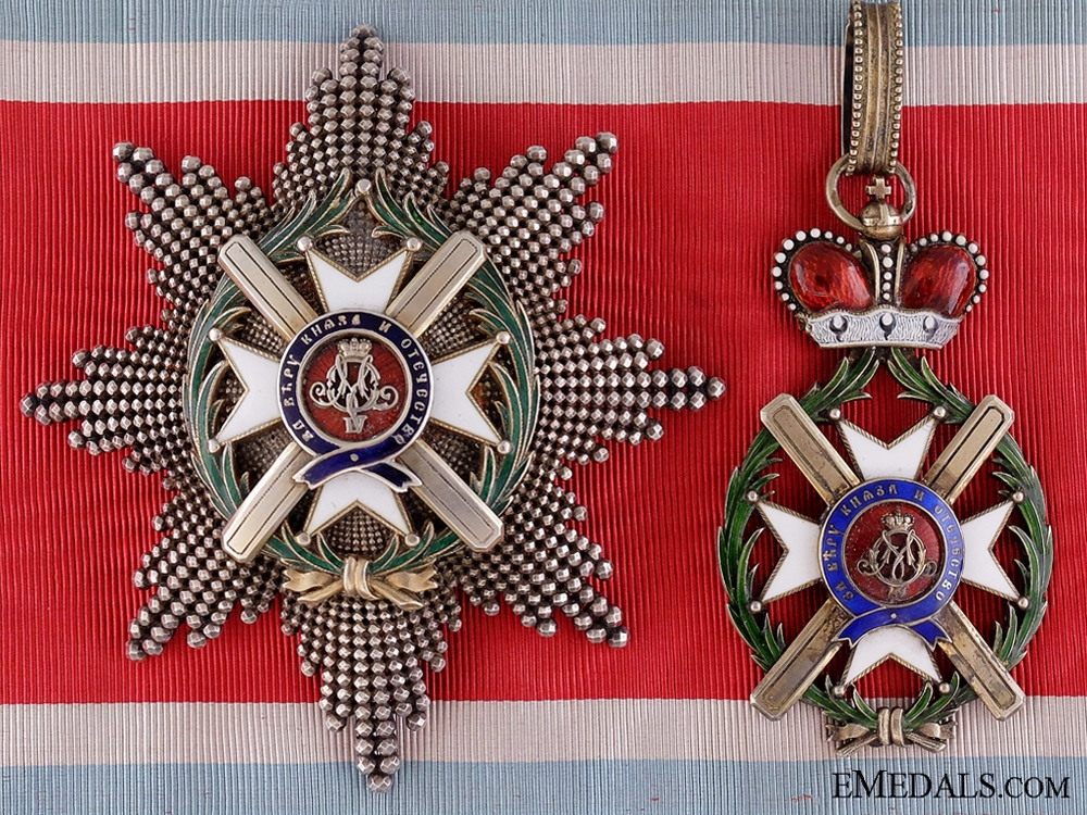 eMedals-The Serbian Order of Takovo; Grand Officer Set by Rothe: 1st Model (1878-1882)