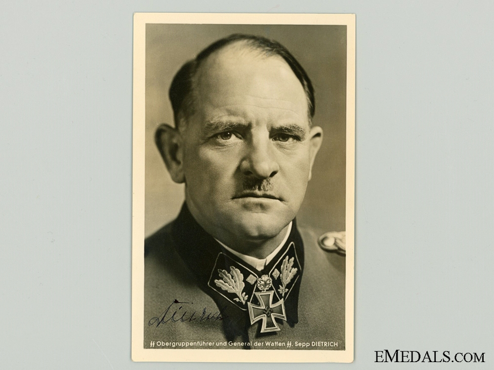 eMedals-The Signature of SS General Josef Dietrich