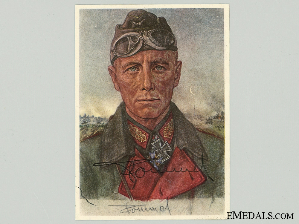 eMedals-The Signature of Erwin Rommel; Removed from Day Book  consignment #14