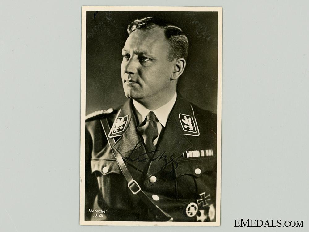 eMedals-The Signature of SA Commander Viktor Lutze