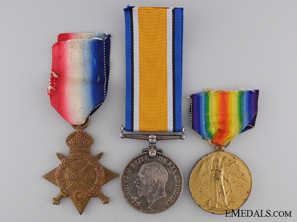 eMedals-A First War Medal Trio to the Army Service Corps