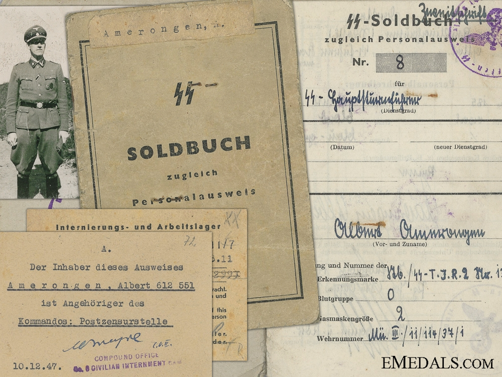 eMedals-The Soldbuch of Albert Amerongen; 2nd SS Technical Infantry Regiment
