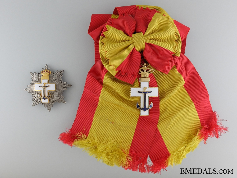 eMedals-The Spanish Order of Naval Merit 1938-75; Grand Cross