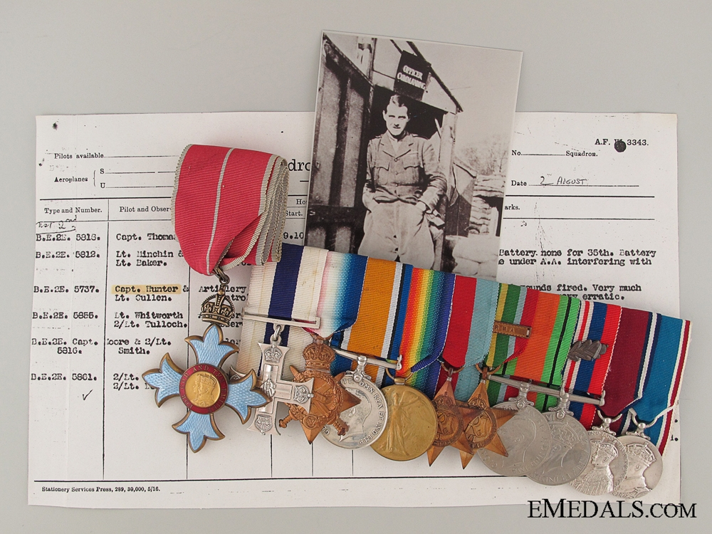 eMedals-The Valourous Medal Bar of Air Commodore Hunter
