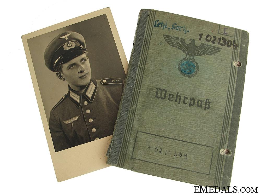 eMedals-The Wehrpass for Gerhard Lehl