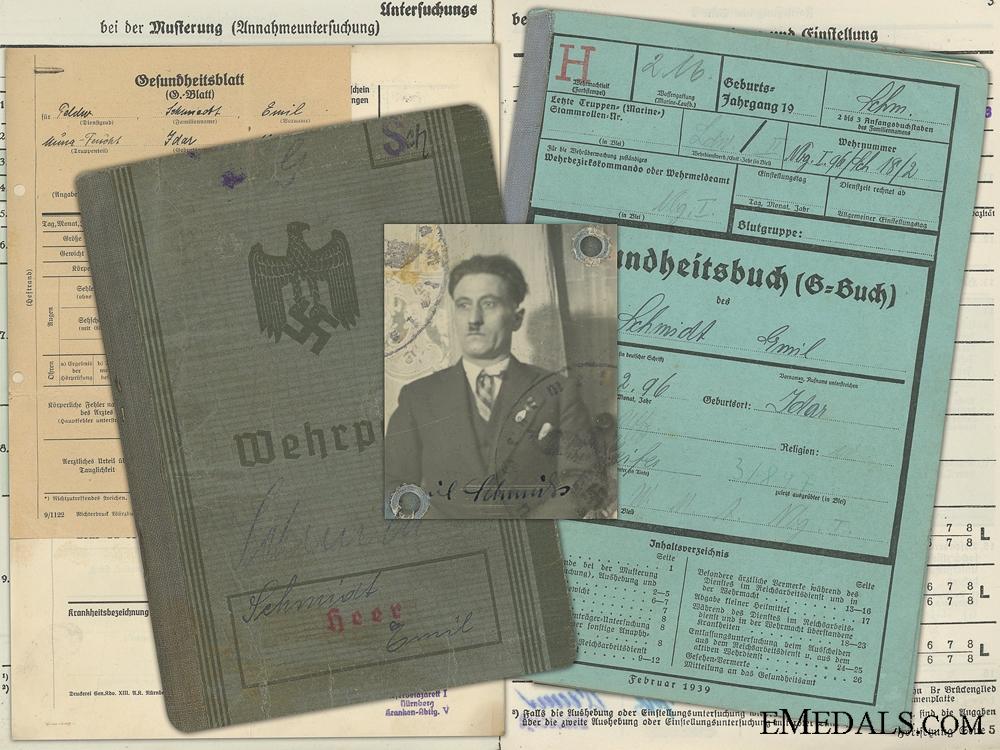 eMedals-The Wehrpass of Emil Schmitz; Iron Cross Recipient