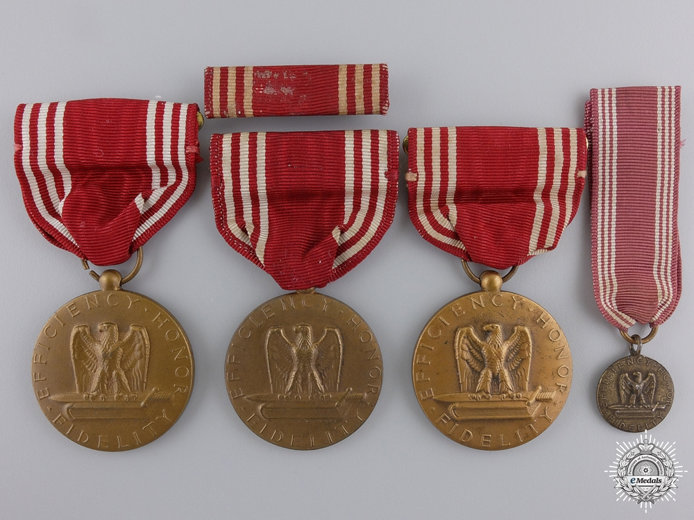eMedals-Three American Army Good Conduct Medals; Named