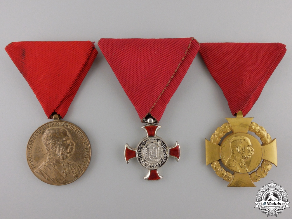 eMedals-Three Austrian Decorations, Medals, and Awards