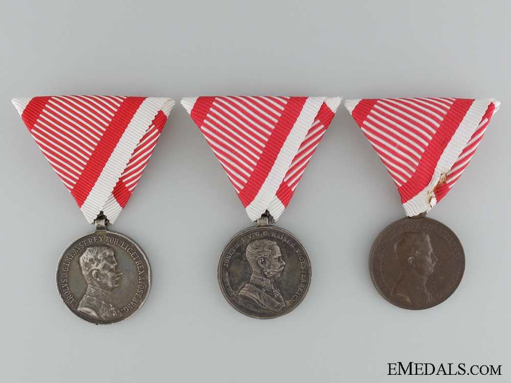 eMedals-Three Austrian Imperial Bravery Medals