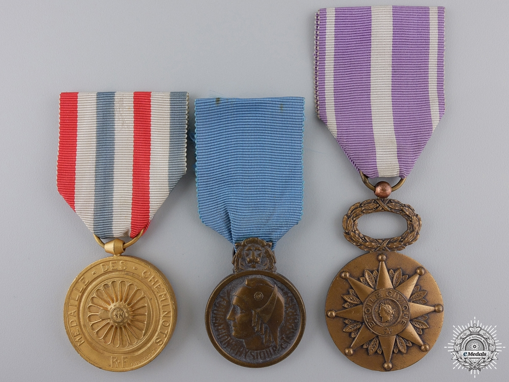 eMedals-Three Civil French Medals of Honour
