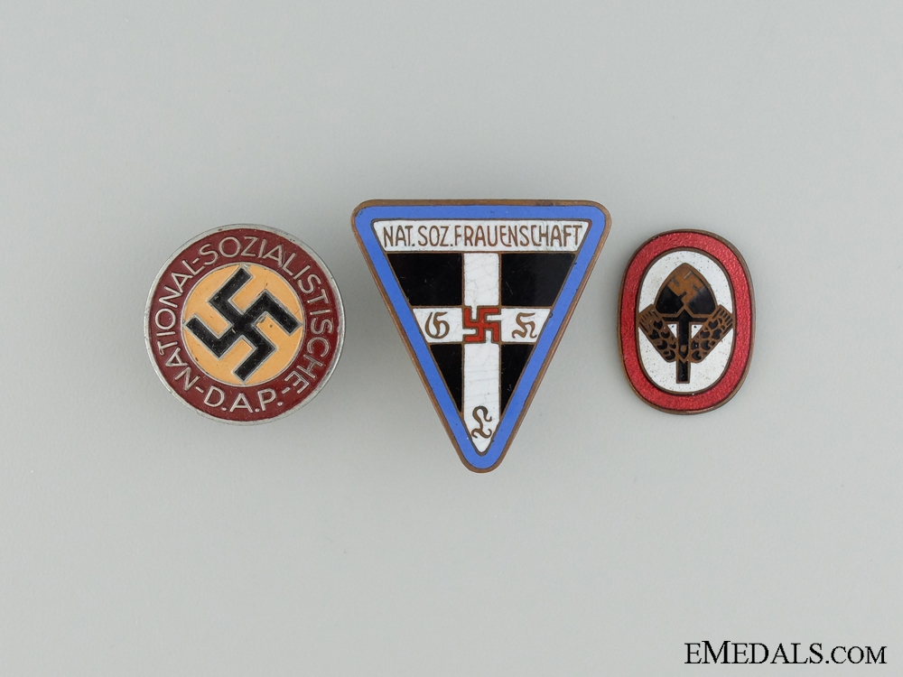 eMedals-Three Enameled Pins & Badges
