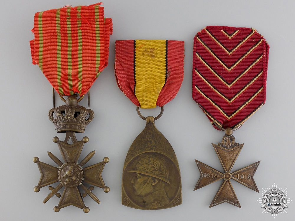 eMedals-Three First War Belgian Medals and Awards