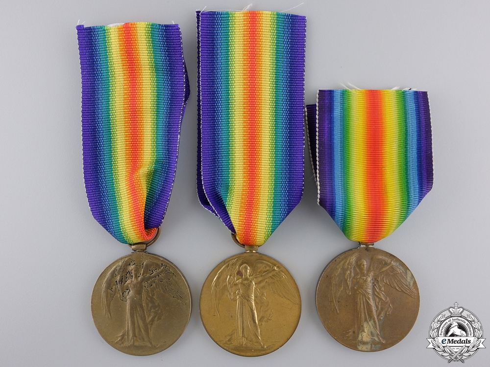 eMedals-Three First War Canadian Victory Medals