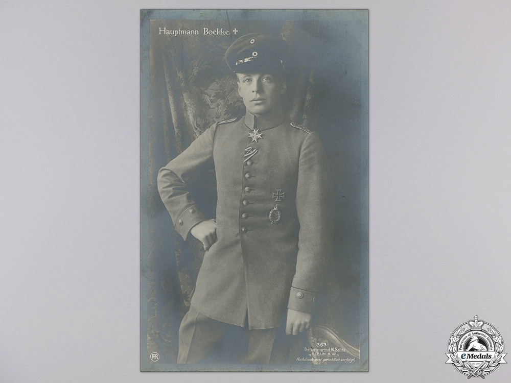 eMedals-Three First War German Pilot & Pour le Merite Recipient Postcards