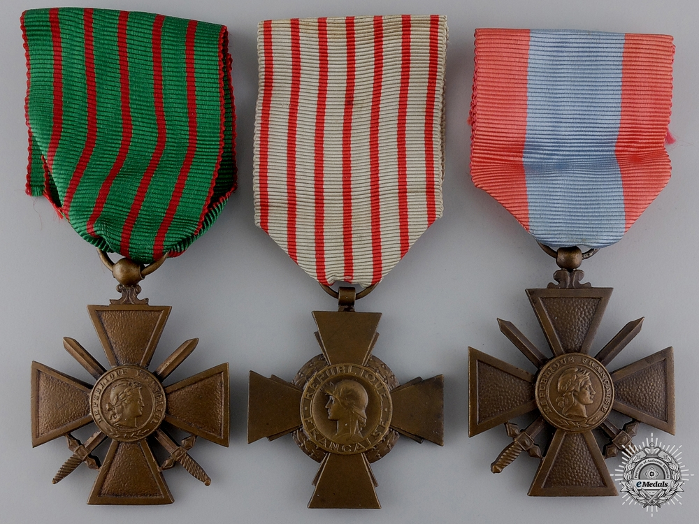 eMedals-Three French Campaign Medals