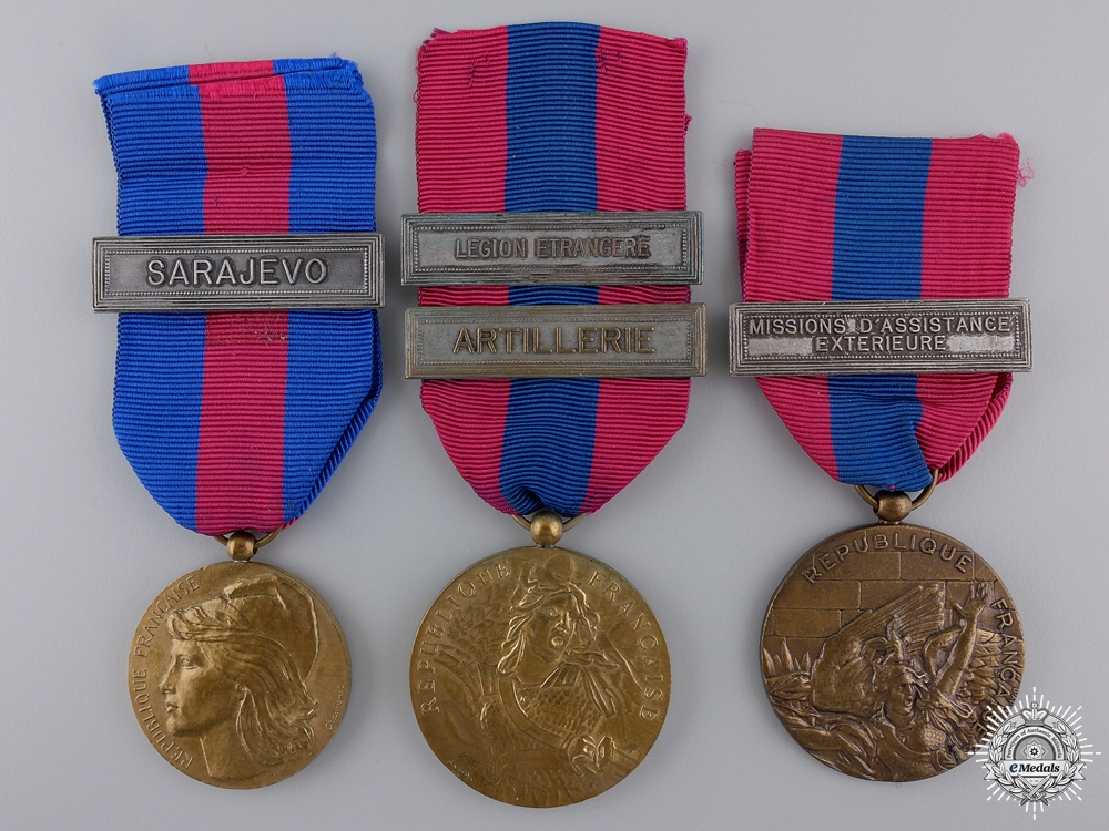 eMedals-Three French Military Service Medals