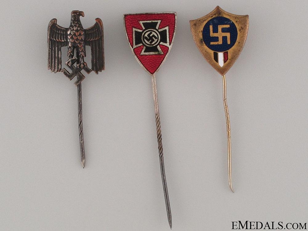 eMedals-Three German Stickpins
