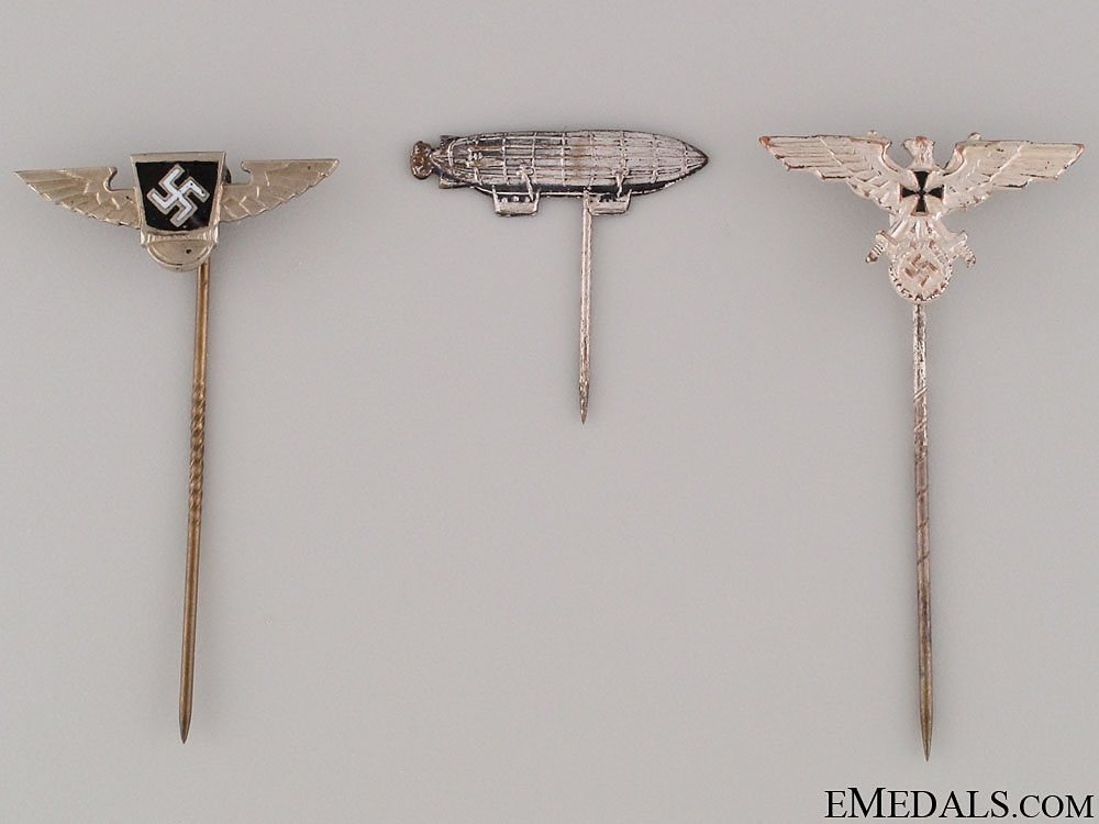 eMedals-Three German Stickpins