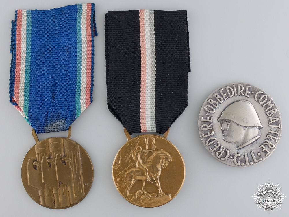 eMedals-Three Italian Medals and Badges