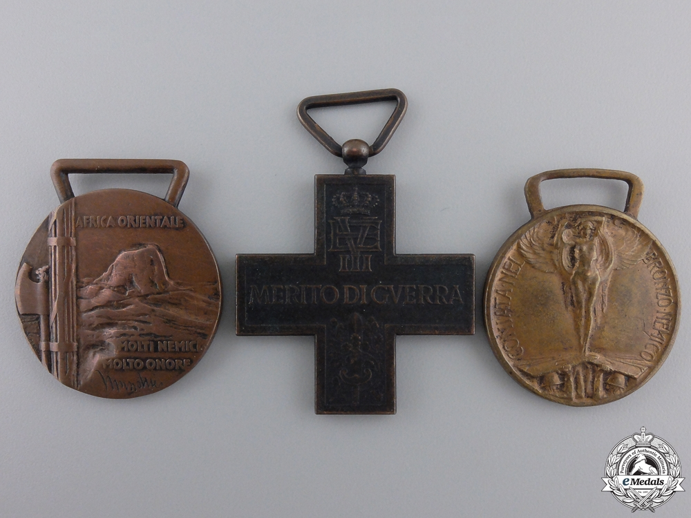 eMedals-Three Italian Medals and Awards