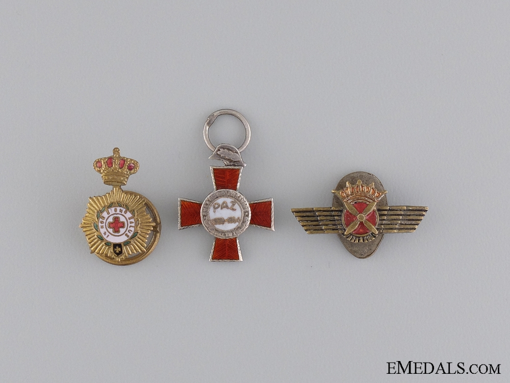 eMedals-Three Miniature Spanish Medals