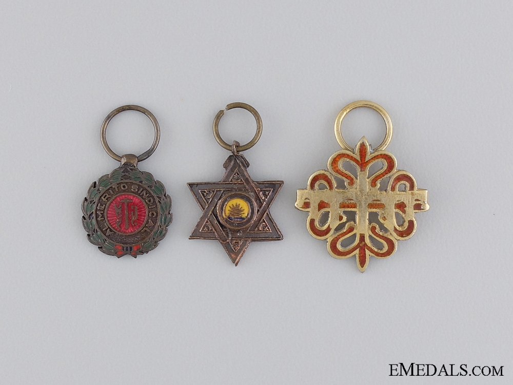 eMedals-Three Miniature Spanish Medals