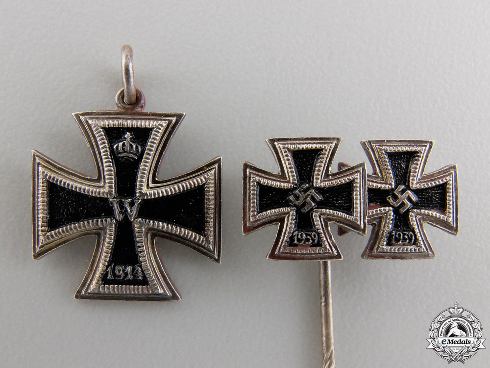 eMedals-Three Miniature Iron Crosses 1939 by Zimmermann