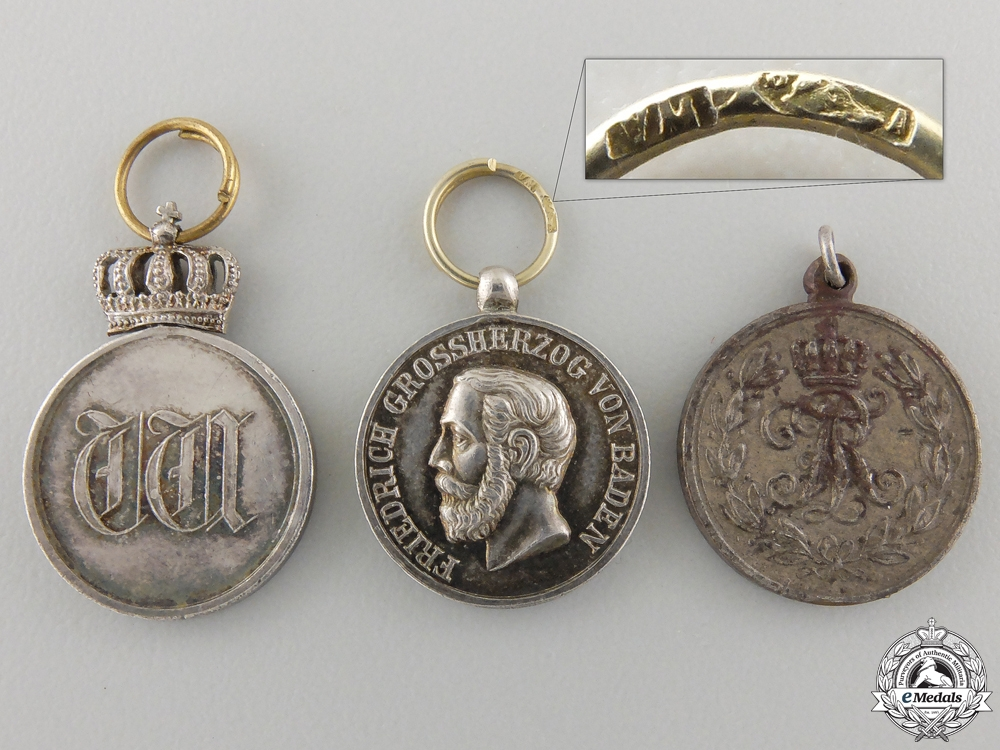eMedals-Three Miniature German Imperials Medals and Awards