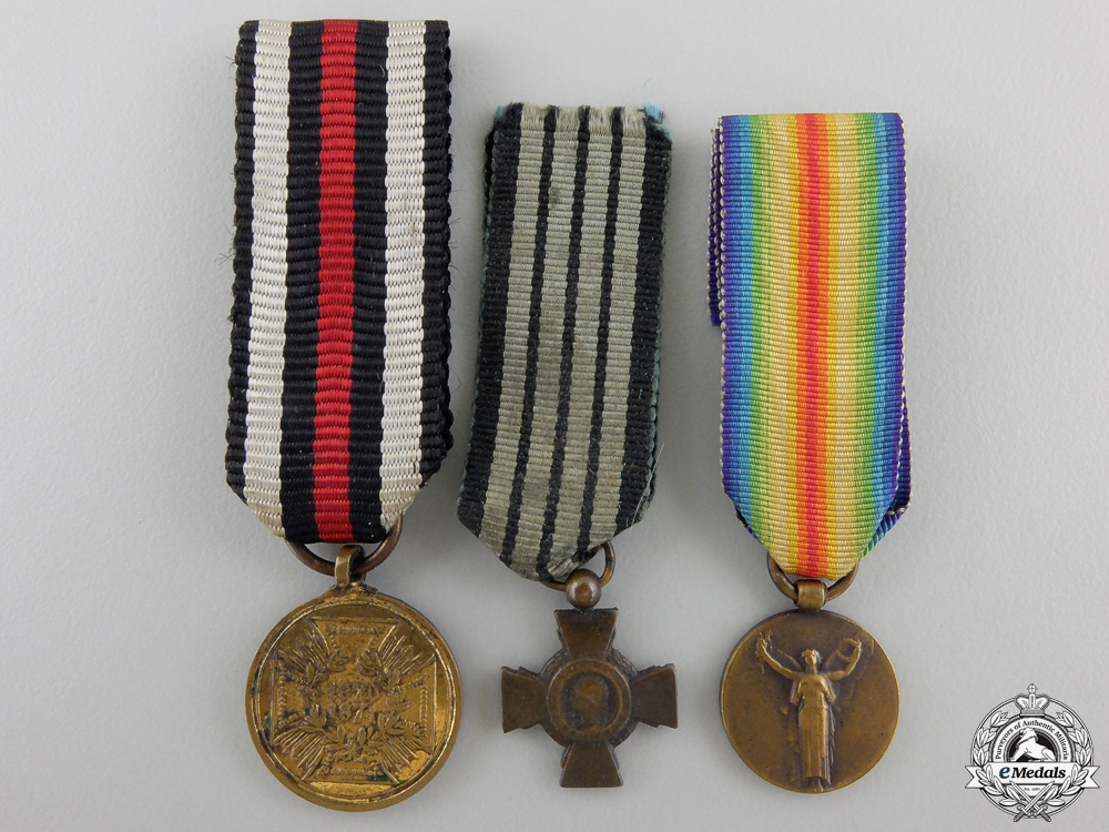 eMedals-Three Miniature Medals & Awards