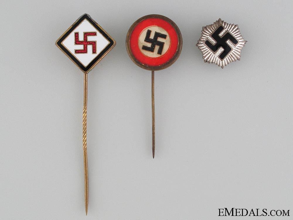 eMedals-Three Patriotic German Pins