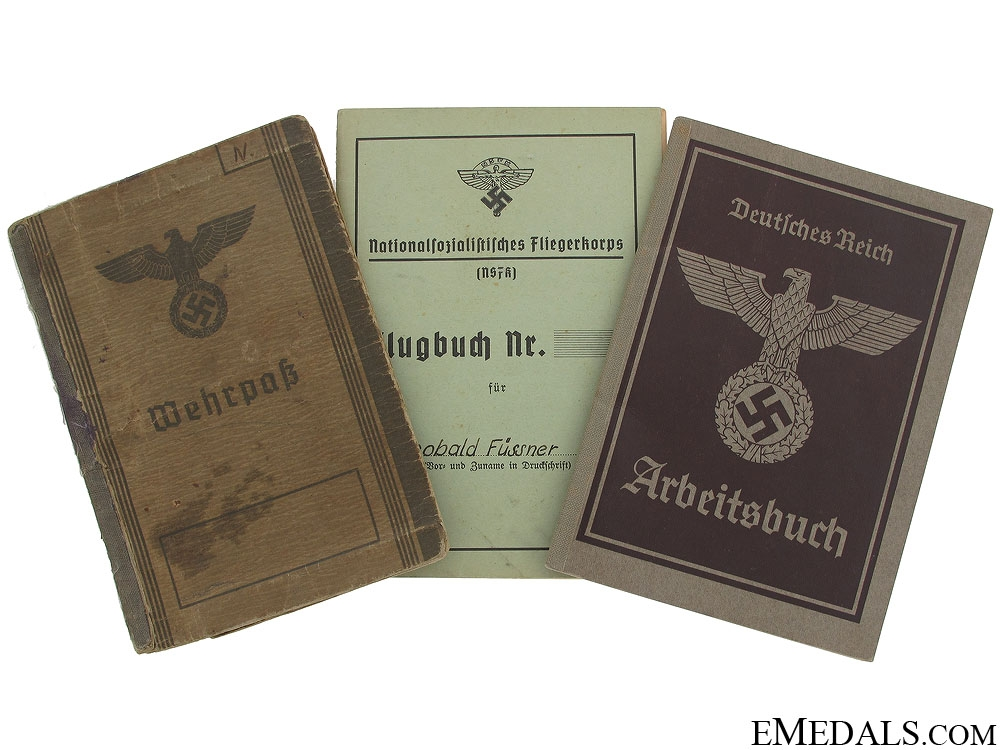eMedals-Three Pieces of WWII German Identification