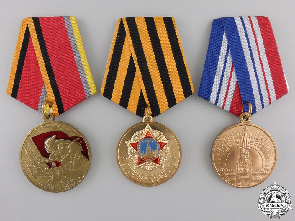 eMedals-Three Russia Federation Medals and Awards