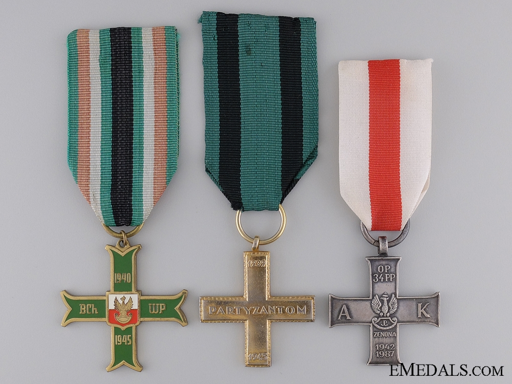 eMedals-Three Second War Polish Medals