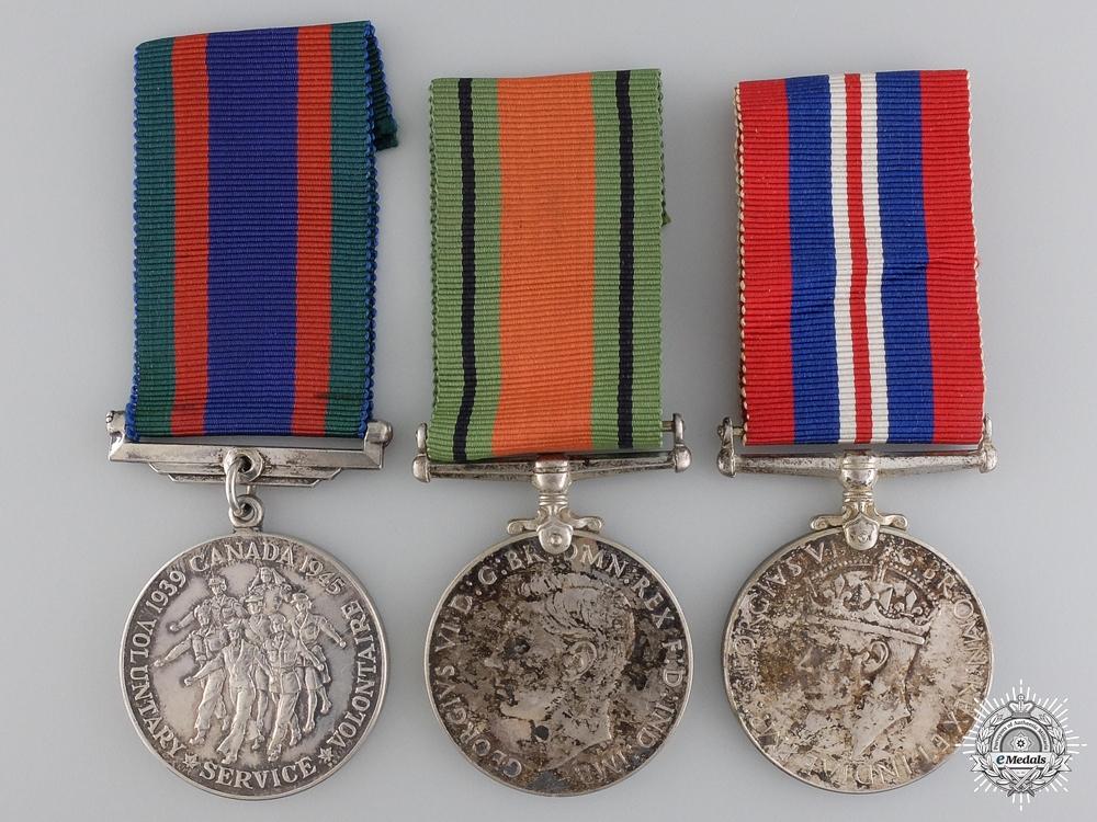 eMedals-Three Second War Canadian Service Medals