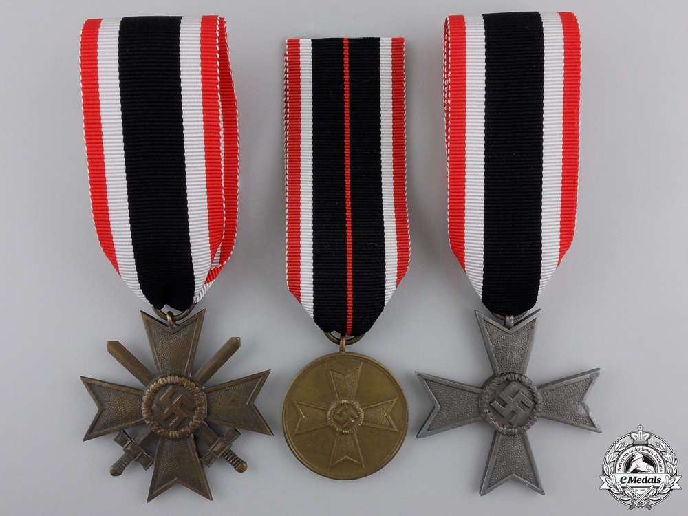 eMedals-Three Second War German Merit Awards