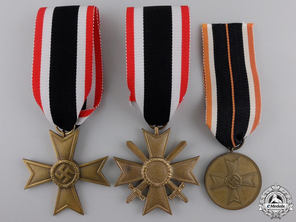 eMedals-Three Second War German Merit Medals & Awards