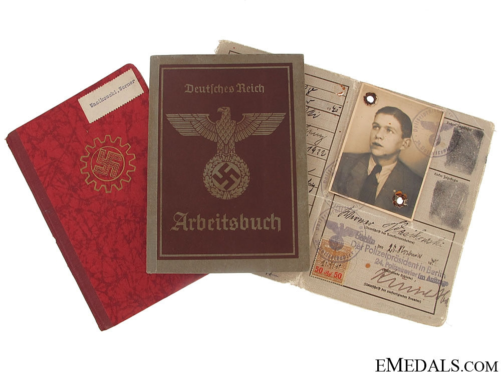 eMedals-Three Third Reich ID Booklets