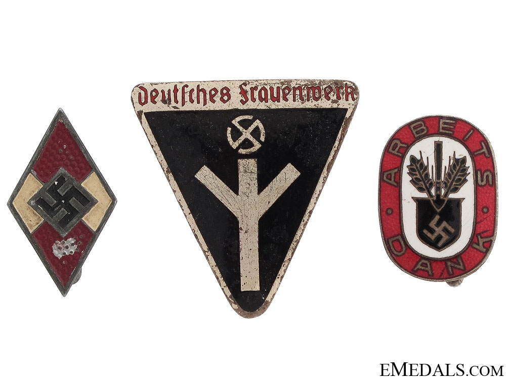 eMedals-Three Third Reich Badges