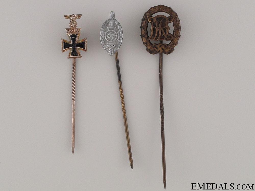 eMedals-Three Third Reich Period Stickpins