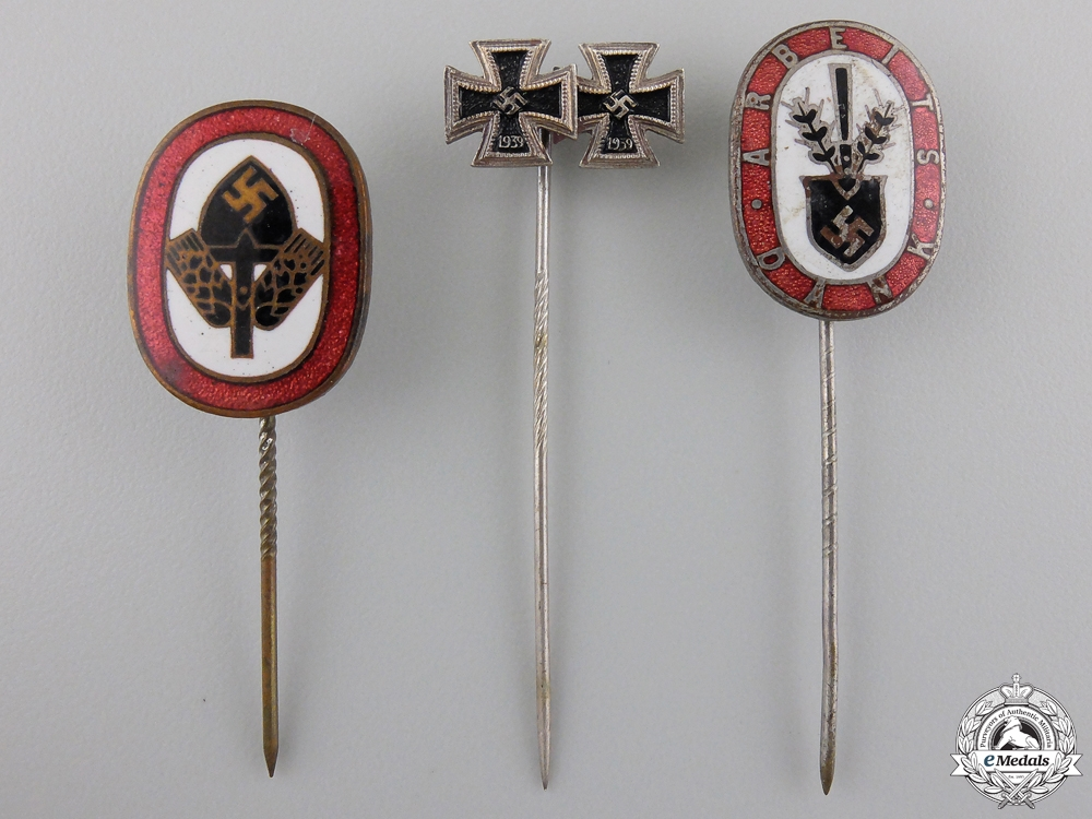 eMedals-Three Third Reich Period Stickpins