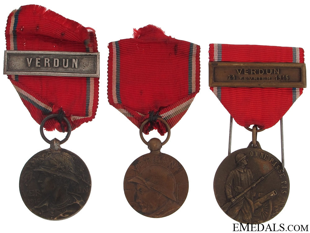 eMedals-Three Verdun Medals, 1916